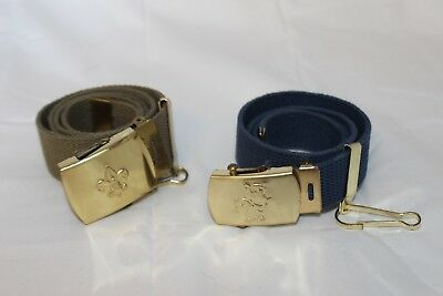 (2) Official BOY SCOUT BSA Tiger Cub & Webelos Belts w/ Buckles GREAT SHAPE