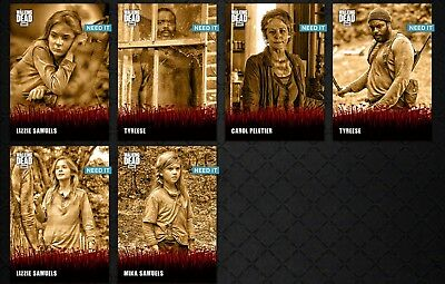 THE HOUSE & THE GROVE SEPIA SET (6 CARD) Topps WALKING DEAD DIGITAL Card Trader