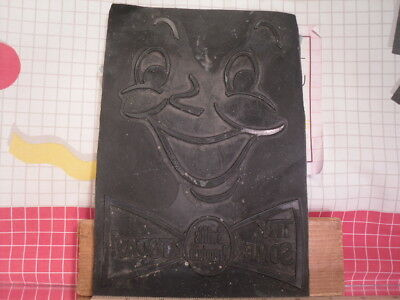 Flexographic Printing Plate Rubber Stamp - Swift Premium smiling face 1950s