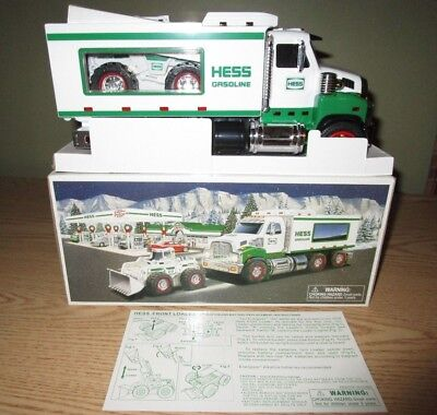Hess 2008 Toy Truck and Front End Loader New in Original Box With Insert