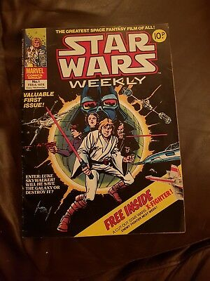 Star Wars Weekly #1 - Uk Issue Feb 1978  Marvel Comics Group Great Condition