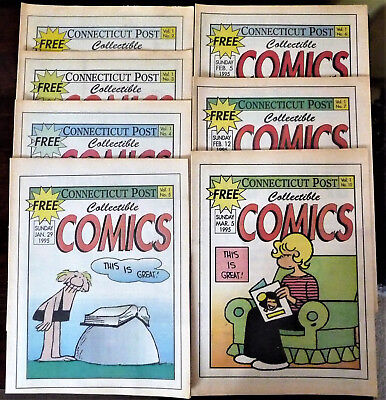 38 LOT Vintage Weekly Sunday Comic Books from Connecticut Post Newspaper 1995