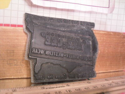 Flexographic Printing Plate Rubber Stamp - Dee-Cee Western Wear