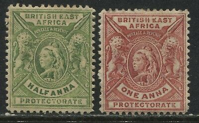 British East Africa 1898 1/2 and 1 anna mint o.g.