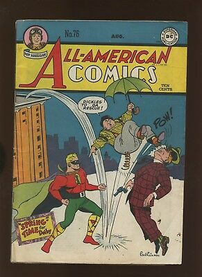 All American Comics 76 VG+ 4.5 * 1 Book Lot * Golden Age DC 1946! Green Lantern!