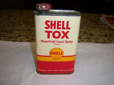 Shell Tox Household Insect Spray 1 Pint Metal Oil Can