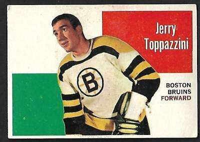 1960-61 Topps Nhl Hockey: #28 Jerry Toppazzini, Boston Bruins