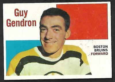 1960-61 Topps Nhl Hockey: #31 Jean- Guy Gendron, Boston Bruins