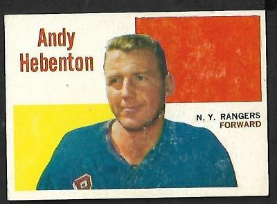 1960-61 Topps Nhl Hockey: #42 Andy Hebenton, New York Rangers