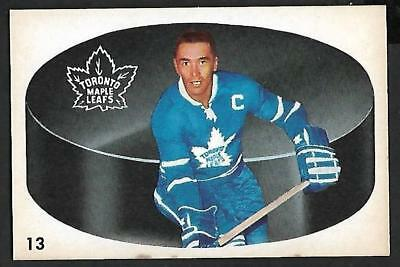 1962-63 Parkhurst Nhl Hockey #13 George Armstrong, Toronto Maple Leafs