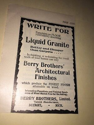 1896 Berry Brothers Architectural Finishes,liquid Granite Ad.detroit,mi