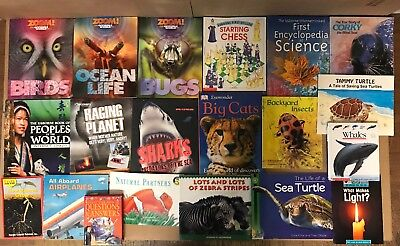 Lot of 20 Science Nature Experiment Geographic Animal Educate Children Book #Y34