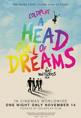 Coldplay A Head Full of Dreams Movie Poster Music Documentary Film Print 24x36""