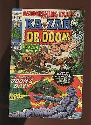 Astonishing Tales 1 FN 5.5 *1 Book* Marvel! Dr. Doom! Ka-Zar! Fantastic! Kirby!