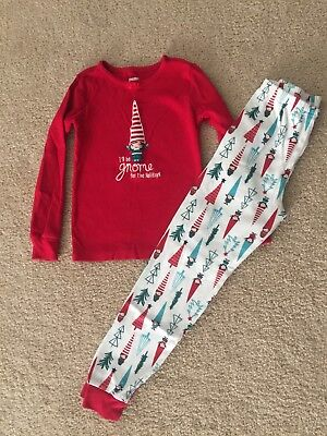 Gymboree Girls I'll Be Gnome For The Holidays Christmas Red Gymmies Size 7