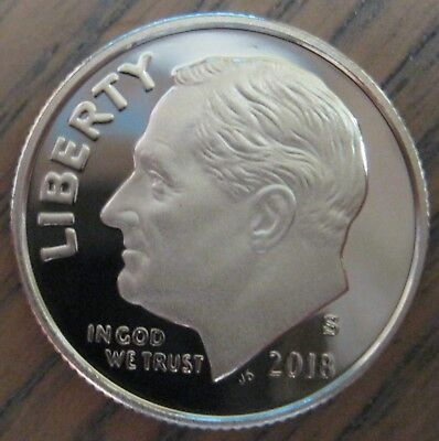 2018-s Cameo Proof Clad Roosevelt Dime Superb Problem Free Coin