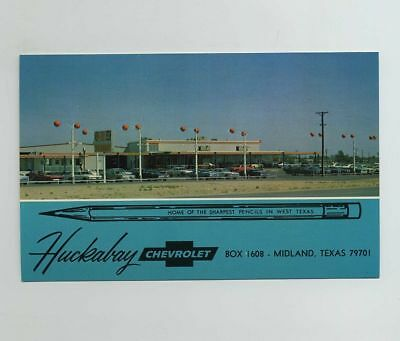 Midland Tx Texas Advertising Postcard Huckabay Chevrolet Car Dealership Wz493 4 84 Picclick
