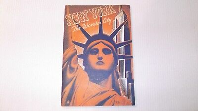 """1940 New York City """"the Wonder City"""" Guide Book Manhattan Post Cad Publishing Co"""