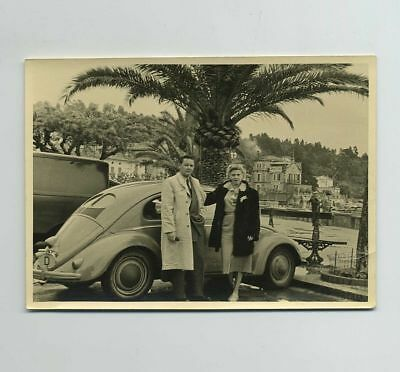 Vintage 1952 3x5 Candid Real Photo Photograph Cannes France French Riviera wz211
