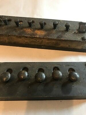 VEEDER-ROOT SIX DIGIT MECHANICAL COUNTER Lot Of Two 1891