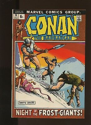 Conan the Barbarian 16 FN+ 6.5 * 1 Book * Marvel! Barry Smith Art! Savage Tales!
