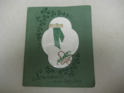 Vintage Unused Hanky Handkerchief Ireland Irish Souvenir in Folder