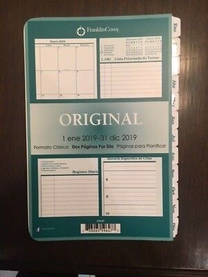 Franklin Covey SPANISH Classic Planner 2019 Brand New 2 pages per day