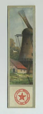 Vintage Advertising Trade Card Bookmark Star Brand Shoes Scenic Windmill bv9978