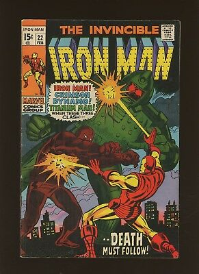 Iron Man 22 FN 6.0 *1 Book* Marvel! 1968-74! Vol.1! From This Conflict, Death!