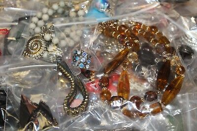 Jewelry Lot One Pound Min 1lb+ Vtg to Modern All Wearable Fashion Glass Stone