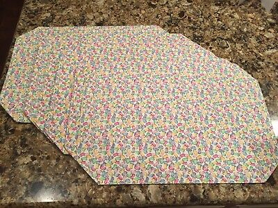 Longaberger Jelly Bean Placemats - Set Of 6, New