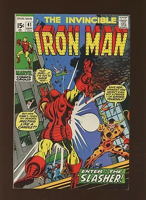 Iron Man 41 FN/VF 7.0 *1 Book* Marvel! 1968-74! Vol.1! The Claws of the Slasher!