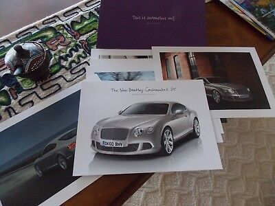 2010 Bentley Motors Limited Picture Folder of Continental GT Dealer Issue RARE