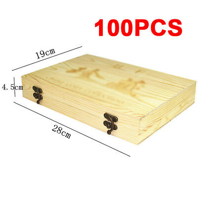 100Pcs/Set 18/21/25/27/30mm Round Coin Wooden Storage Box Container Display Case