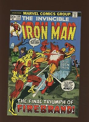 Iron Man 59 FN+ 6.5 * 1 Book Lot * Marvel! 1968-74! Vol.1! A Madness in Motown!