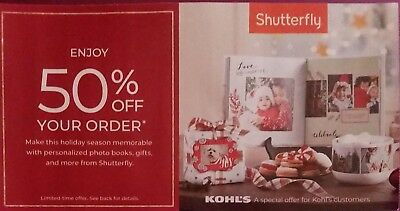 Shutterfly Promo Code 50% Off Your Entire Order Expires: 12/31/2018
