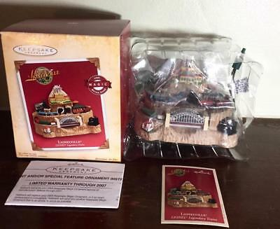 LIONELVILLE Trains Hallmark Keepsake MAGIC Light Motion Sound Lionel 2004 NIB