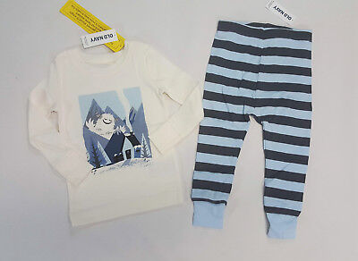NWT Old Navy Boys Size 2t 3t or 4t Abominable Snowman Yeti Pajamas Pjs