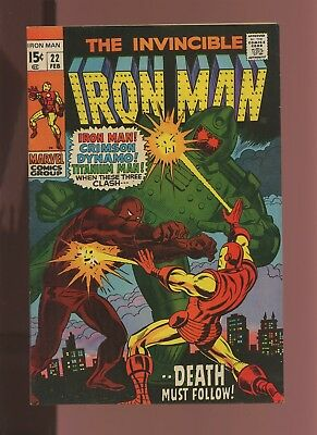 Iron Man 22 VF 7.5 *1 Book* Marvel! 1968-74! Vol.1! From This Conflict, Death!