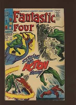 Fantastic Four 71 FN 6.0 * 1 Book * Marvel! And So It Ends! Kirby & Lee! 1968!