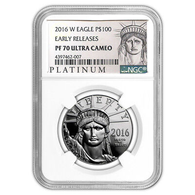 Certified Platinum American Eagle Proof 2016-W 1oz PF70 NGC Early Releases