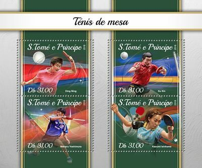 SAO TOME 2018 MNH ** Table Tennis Tischtennis M/S #101a B