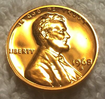 1968-S Proof Lincoln Cent Mirror Finish Beautiful Luster Wow Look