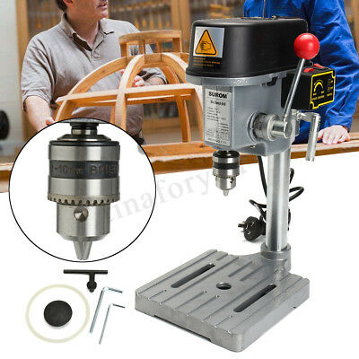 340W Rotary Pillar Drill Press Bench Top Mounted Drilling Machine Speed 10mm
