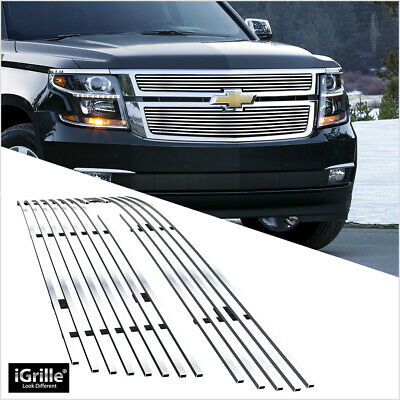 Fits 2015-2020 Chevy Suburban/Tahoe Main Upper Stainless Chrome Billet Grille