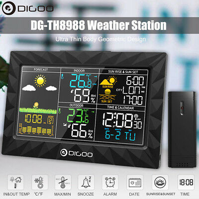 DIGOO DG-TH8988 Colorful Weather Station +Outdoor Sensor Thermometer Humidity