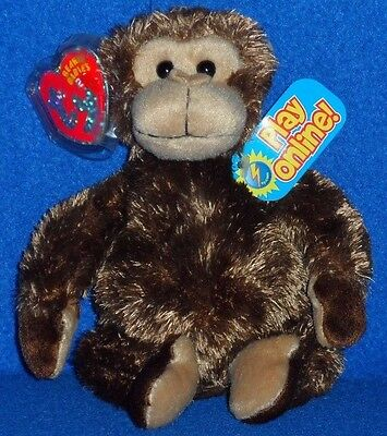 TY 2.0 - VINES the MONKEY - MINT with MINT TAGS - UNUSED CODE
