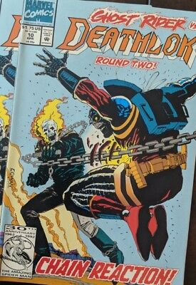 Deathlock Marvel Comic Books #10 Punisher Ghost Rider X-Men. Key Book. Very Nice