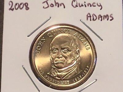 2008  US Presidential one dollar coin. John Quincy Adams