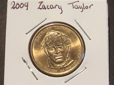 2009  US Presidential one dollar coin. Zachary Taylor